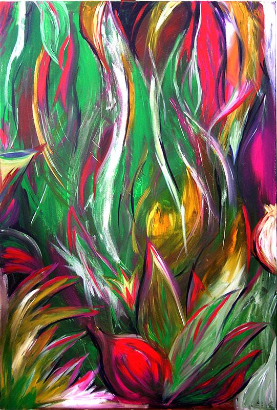 Urwald - Acryl ca. 120 x 80 cm