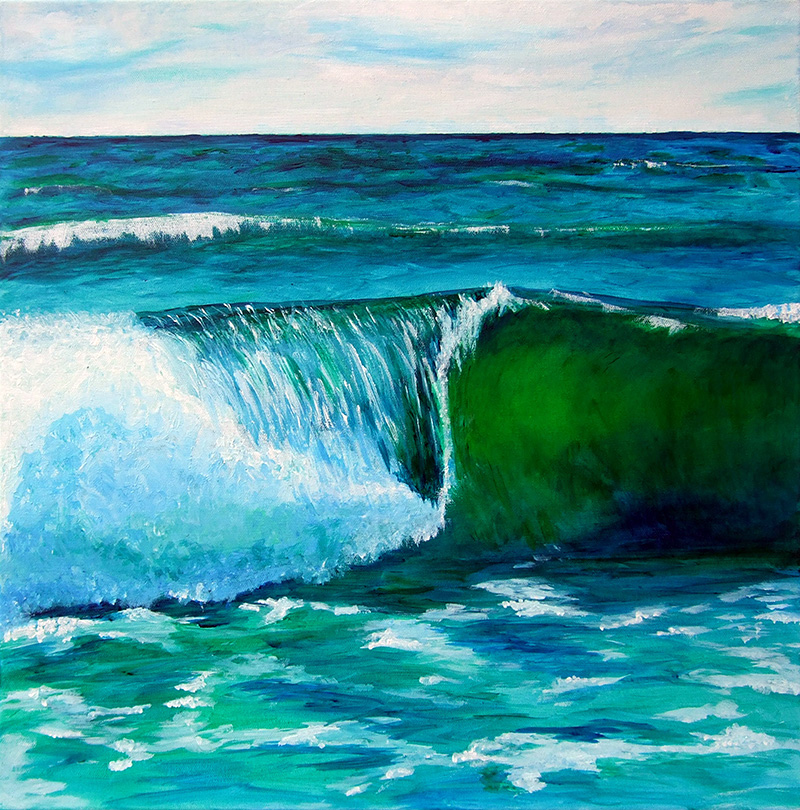 Welle - Acryl ca. 50 x 50 cm