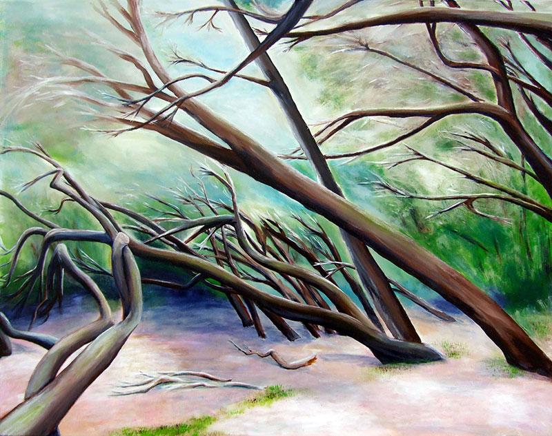 Wald - Acryl ca. 70 x 90 cm