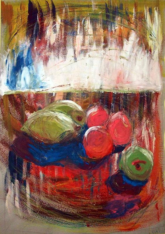 Obst - Acryl ca. 100 x 65 cm